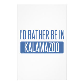I'd rather be in Kalamazoo Stationery