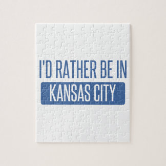 I'd rather be in Kansas City KS Jigsaw Puzzle