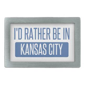 I'd rather be in Kansas City KS Rectangular Belt Buckle