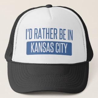 I'd rather be in Kansas City KS Trucker Hat