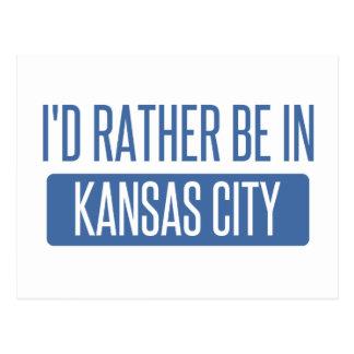 I'd rather be in Kansas City MO Postcard