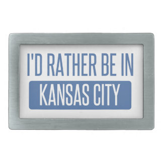I'd rather be in Kansas City MO Rectangular Belt Buckle
