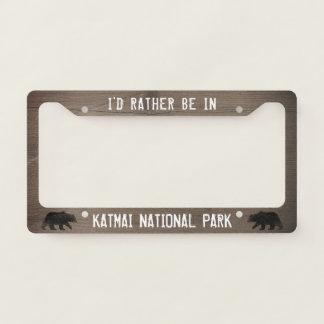 I'd Rather be in Katmai National Park - Custom License Plate Frame