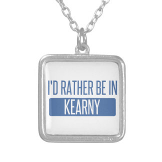 I'd rather be in Kearny Silver Plated Necklace