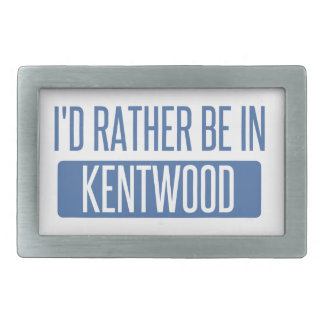 I'd rather be in Kentwood Rectangular Belt Buckle