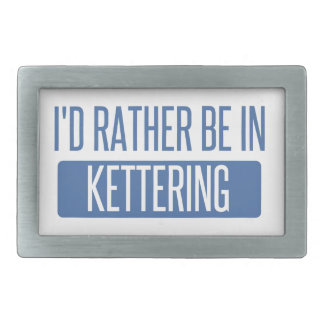 I'd rather be in Kettering Rectangular Belt Buckles