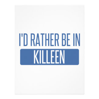 I'd rather be in Killeen Customized Letterhead