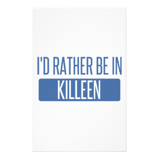 I'd rather be in Killeen Customized Stationery