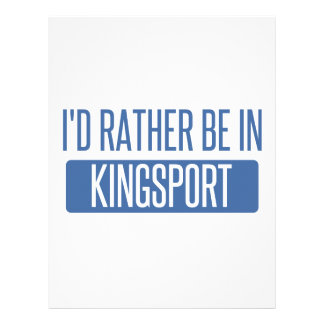 I'd rather be in Kingsport Letterhead