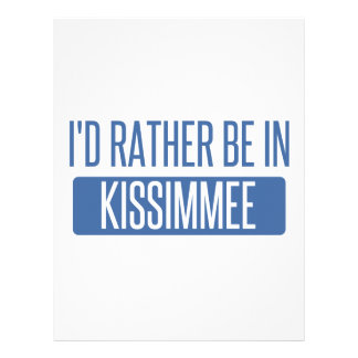 I'd rather be in Kissimmee Letterhead