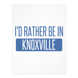 I'd rather be in Knoxville Letterhead