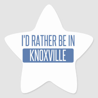I'd rather be in Knoxville Star Sticker