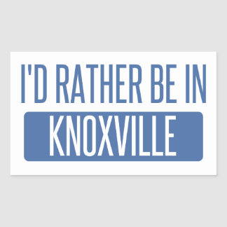 I'd rather be in Knoxville Sticker