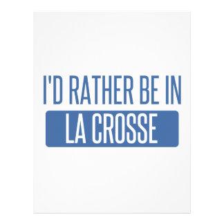I'd rather be in La Crosse Letterhead