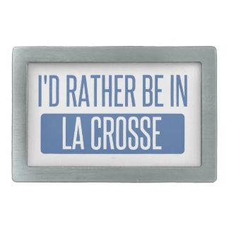 I'd rather be in La Crosse Rectangular Belt Buckles