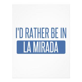 I'd rather be in La Mesa Letterhead