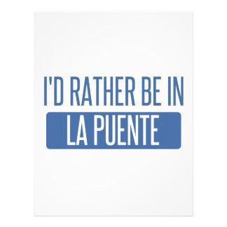 I'd rather be in La Puente Letterhead