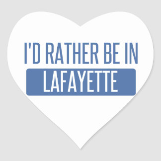 I'd rather be in Lafayette IN Heart Sticker