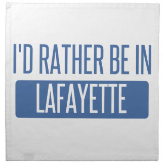 I'd rather be in Lafayette IN Napkin