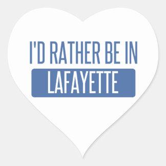 I'd rather be in Lafayette LA Heart Sticker