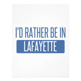 I'd rather be in Lafayette LA Letterhead Design