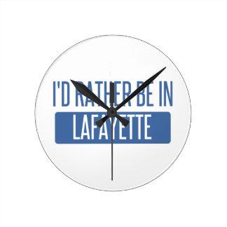 I'd rather be in Lafayette LA Round Clock