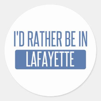 I'd rather be in Lafayette LA Round Sticker