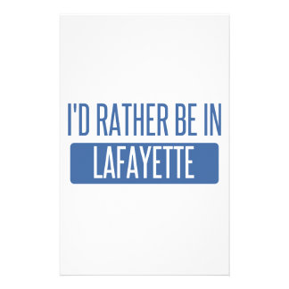 I'd rather be in Lafayette LA Stationery