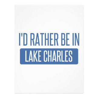 I'd rather be in Lake Charles Letterhead