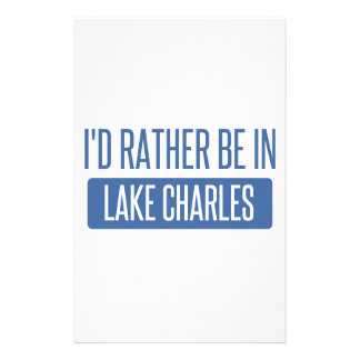 I'd rather be in Lake Charles Stationery