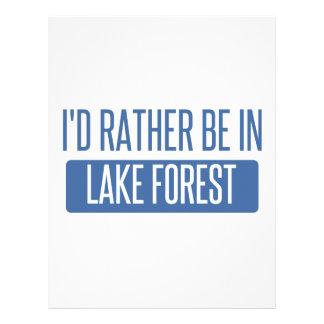 I'd rather be in Lake Forest Letterhead