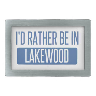I'd rather be in Lakewood OH Belt Buckles