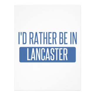 I'd rather be in Lancaster OH Letterhead