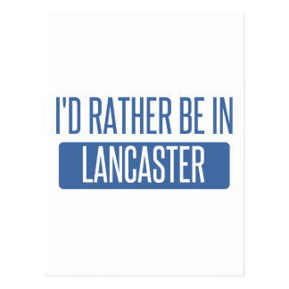 I'd rather be in Lancaster OH Postcard