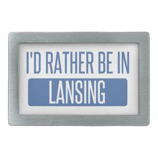 I'd rather be in Lansing Belt Buckles