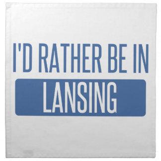 I'd rather be in Lansing Napkin