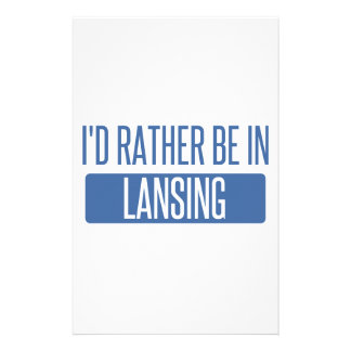 I'd rather be in Lansing Stationery