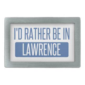 I'd rather be in Lawrence KS Belt Buckles