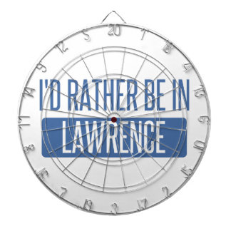 I'd rather be in Lawrence KS Dartboard