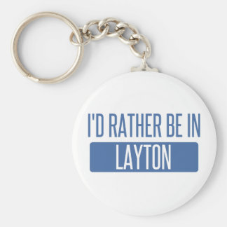 I'd rather be in Layton Basic Round Button Keychain