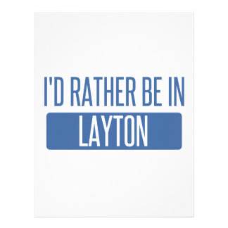 I'd rather be in Layton Customized Letterhead