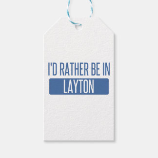 I'd rather be in Layton Pack Of Gift Tags