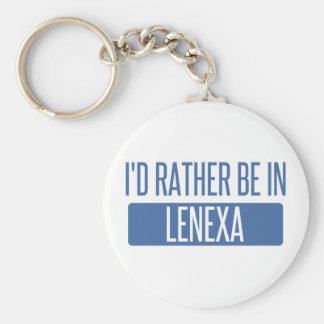 I'd rather be in Lenexa Basic Round Button Keychain