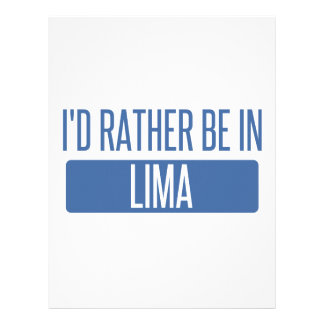 I'd rather be in Lima Letterhead