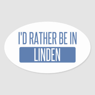 I'd rather be in Linden Oval Sticker