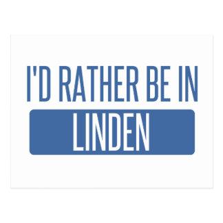 I'd rather be in Linden Postcard
