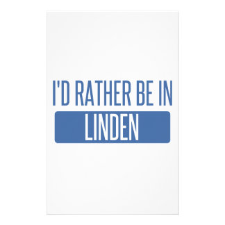 I'd rather be in Linden Stationery