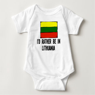 I'd Rather Be In Lithuania Baby Bodysuit