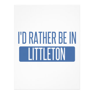 I'd rather be in Littleton Letterhead Template