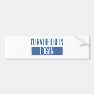 I'd rather be in Logan Bumper Sticker